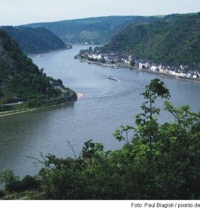 Der Rhein bei der Loreley