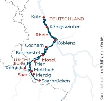 Auf Neckar, Rhein. Mosel & Saar mit der MS Casanova