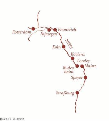 Auf dem Rhein unterwegs mit der A-ROSA BRAVA