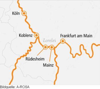 Rhein Süd mit der A-ROSA BRAVA