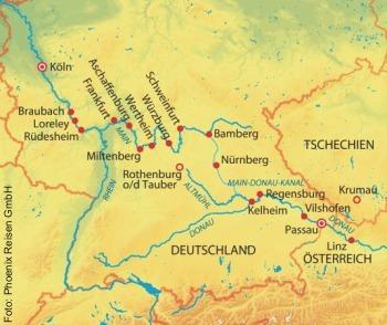 Höhepunkte am Main-Donau-Kanal mit der MS Anesha