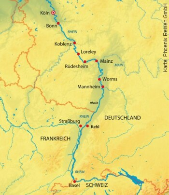 Silvester auf dem Rhein durch drei Länder mit der MS Aurelia