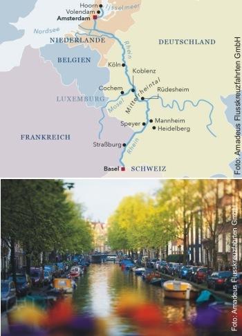 Mit der MS Amadeus Silver III von Basel nach Amsterdam