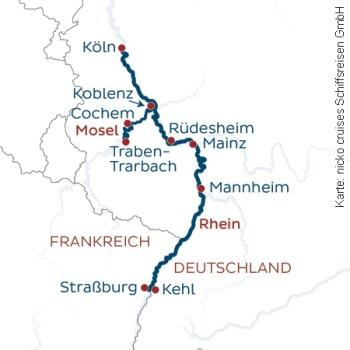 Vier Länder, ein Strom mit der MS Rhein Melodie