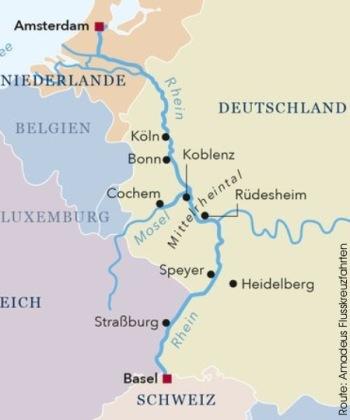 Von Amsterdam bis Basel