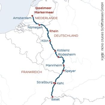 Von Basel nach Köln mit der MS Rhein Melodie