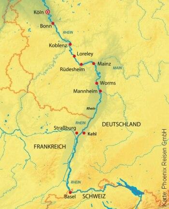Silvesterkreuzfahrt von Köln nach Basel mit der MS Asara