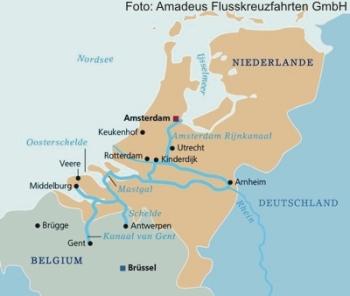 Flusskreuzfahrt ab/bis Amsterdam