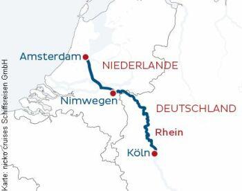 Von Köln nach Amsterdam mit der MS Rhein Symphonie