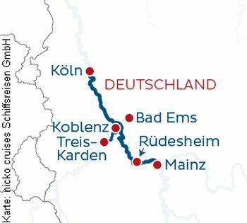 Von Köln nach Mainz mit der MS Rhein Symphonie