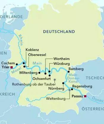 Von Passau nach Trier mit der MS AMADEUS Silver II