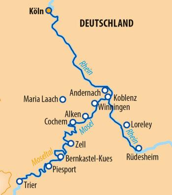 Unterwegs auf Rhein und Mosel mit der MS Vista Sky