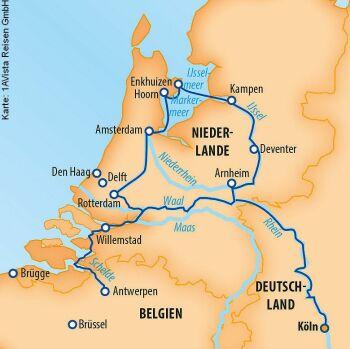 Nach Holland und Belgien mit der MS Vista Sky