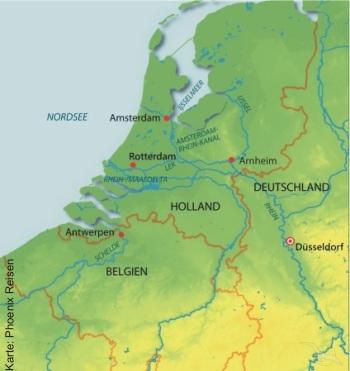 Flusskreuzfahrt mit der MS Annika bis Amsterdam und Antwerpen
