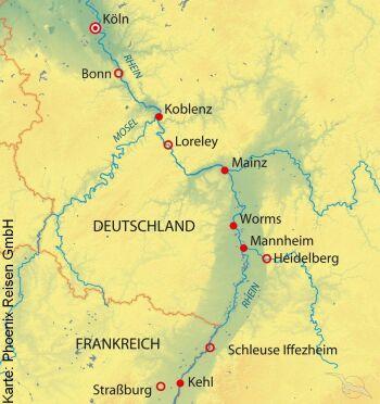 Auf dem Rhein von Köln nach Straßburg mit der MS Andrea