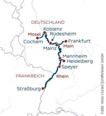 Auf Rhein, Main und Mosel unterwegs mit der nickoSPIRIT