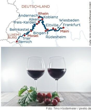 Wein- und Genussreise auf Main, Rhein und Mosel