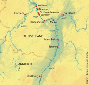 Mit der MS Rhein Prinzessin bis Straßburg und Koblenz