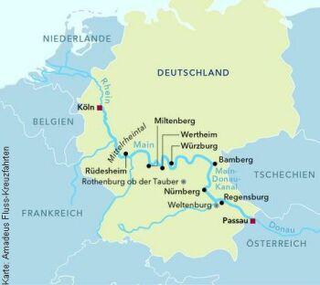 Von Passau nach Köln mit der MS Amadeus Cara